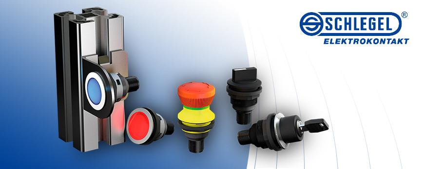 Nueva gama de pulsadores y setas de emergencia de SCHLEGEL