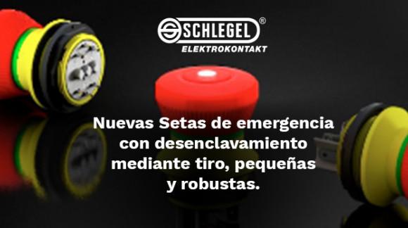Nuevas setas de emergencia con desenclavamiento mediante tiro, pequeñas y robustas